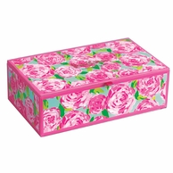 Lilly Pulitzer Large Glass Storage Box - First Impressions Print