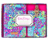 Lilly Pulitzer Lilly's Lagoon Passport Holder & Luggage Tag Set