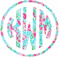 Lilly Pulitzer Lobstah Roll Print Car Monogram Decal
