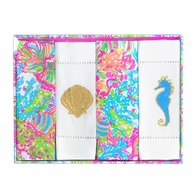 Lilly Pulitzer Lovers Coral Cocktail Napkins Set