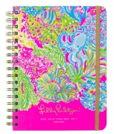 Lilly Pulitzer Lovers Coral Large 17 Month Agenda