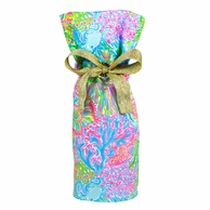 Lilly Pulitzer Lovers Coral Wine Tote Gift Bag
