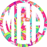 Lilly Pulitzer LuLu Print Car Monogram Decal