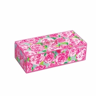 Lilly Pulitzer Medium Glass Storage Box - FIRST IMPRESSIONS Print