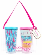 Lilly Pulitzer Meet Me At The Beach Insulated Tumbler Set of 2