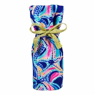 Lilly Pulitzer Ocean Jewels Wine Tote Gift Bag