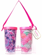 Lilly Pulitzer Oh Shello Insulated Tumbler SET OF 2