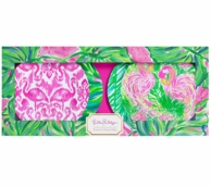 Lilly Pulitzer Painted Palm Appetizer Plates - Set of 4
