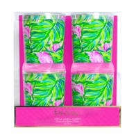Lilly Pulitzer Painted Palm Lo-Ball Glasses SET OF 4