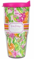 Lilly Pulitzer Peelin Out 24oz Insulated Drink Tumbler