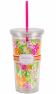 Lilly Pulitzer Peelin Out Insulated Tumbler with Straw