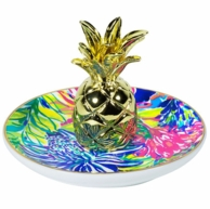 Lilly Pulitzer Pineapple Travelers Palm Ring Holder