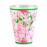 Lilly Pulitzer Pink Colony Reusable Tumblers - SET OF 8