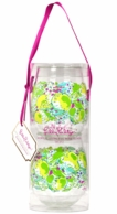 Lilly Pulitzer Pink Lemonade Acrylic Stemless Wine Glasses