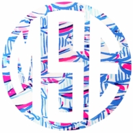 Lilly Pulitzer Red Right Return Monogram Decal