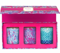 Lilly Pulitzer Samba Votive Candles Boxed Set of 3