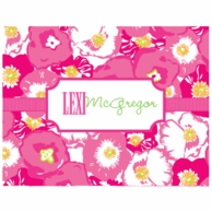 Lilly Pulitzer Scarlet Begonias Personalized Fold Over Note Cards