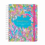 Lilly Pulitzer Scuba To Cuba 2015-2016 LARGE Agenda
