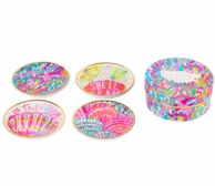 Lilly Pulitzer Scuba To Cuba Ceramic Coasters Set
