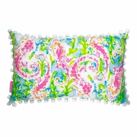 Lilly Pulitzer Seahorse Medium Bolster Pillow