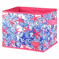 Lilly Pulitzer She She Shells MEDIUM Storage Box