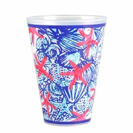 Lilly Pulitzer She She Shells Reusable Tumblers - SET OF 8