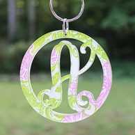 Lilly Pulitzer Single Initial Acrylic Cut Key Chain