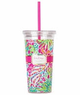 Lilly Pulitzer Spot Ya Drink Tumbler with Straw