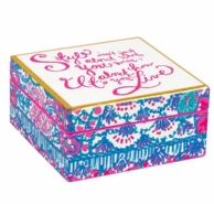 Lilly Pulitzer Style Small Lacquer Trinket Box
