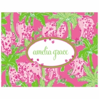 Lilly Pulitzer Taboo Personalized Fold Over Note Cards