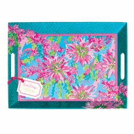 Lilly Pulitzer Trippin and Sippin Melamine Serving Tray