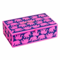 Lilly Pulitzer Tusk In Sun Large Glass Storage Box