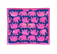 Lilly Pulitzer Tusk In Sun Medium Glass Catch All Tray