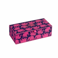 Lilly Pulitzer Tusk In Sun Medium Glass Storage Box