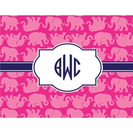 Lilly Pulitzer Tusk In Sun Monogrammed Fold Over Note Cards