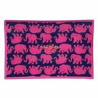 Lilly Pulitzer Tusk In Sun Print LARGE Glass Catch All Tray