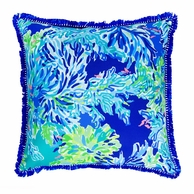 Lilly Pulitzer Wade and Sea Large Pillow
