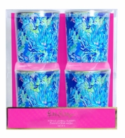 Lilly Pulitzer Wade and Sea Lo-Ball Glasses - SET OF 4