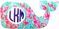 Lilly Pulitzer Whale Monogram Decal