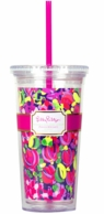 Lilly Pulitzer Wild Confetti Drink Tumbler with Straw