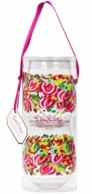 Lilly Pulitzer Wild Confetti Stemless Acrylic Wine Glasses