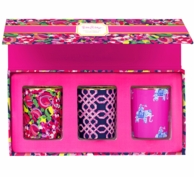 Lilly Pulitzer Wild Confetti Votive Candle Boxed Set of 3