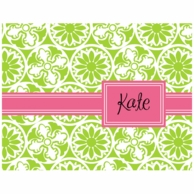 Lilly Pulitzer Winter Green Personalized Fold Over Note Cards