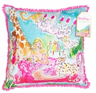 Lilly Pulitzer Zoo Party Large Throw Pillow