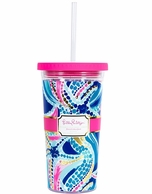 Lily Pulitzer Ocean Jewels Drink Tumbler with Straw