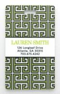 Lime Greek Key Personalized Luggage Tags - SET OF 2