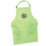 Lime Green Monogrammed Adult Apron