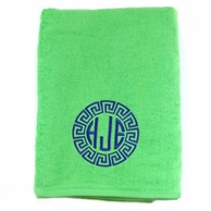 Lime Personalized Towel