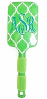 Lime Quatrafoil Monogrammed Paddle Brush