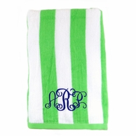 Lime Stripes Personalized Towel